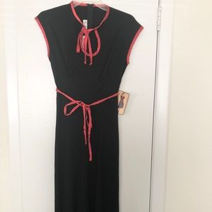 Stop Starting red and black pin up dress XS